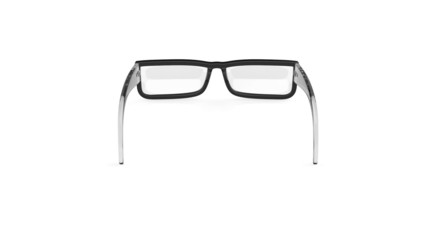 Eyeglasses rotates on white background