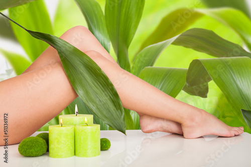 Beautiful Woman Legs In Spa