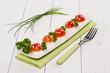 Antipasto con mozzarella e pomodorini