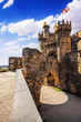 Castle of Ponferrada in the Camino de Santiago, Leon, Spain