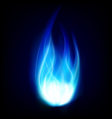 blue burning fire flame background