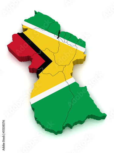 3D Map of Guyana