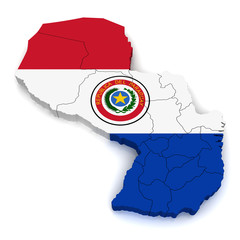 3D Map of Paraguay