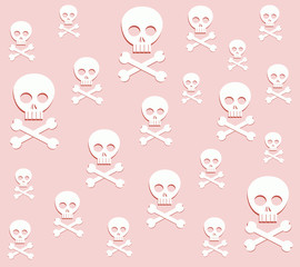 crossbones and skull. pattern in vector format