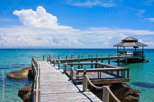 Fototapeten,gartenhäuschen,asien,himmelblau,strand