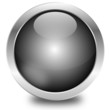glossy chrome button, vector