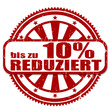 10% REDUZIERT Stempel