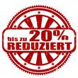20% REDUZIERT, Stempel