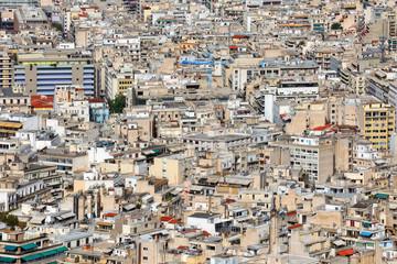 High urban density in Athens