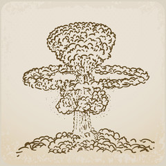 atomic explosion drawing