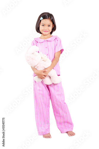 Pajama And Teddy Bear