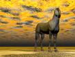 Surrealistic horse - 3D render