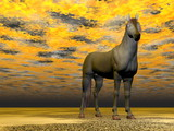 Surrealistic horse - 3D render