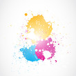 colorful glowing grunge splashes