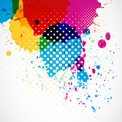 colorful grunge splash background