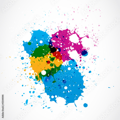 abstract colorful grunge splash paint