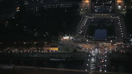 Панорамный вид парижа с высоты Эйфелевой башни