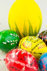 Handmade painted Easter eggs