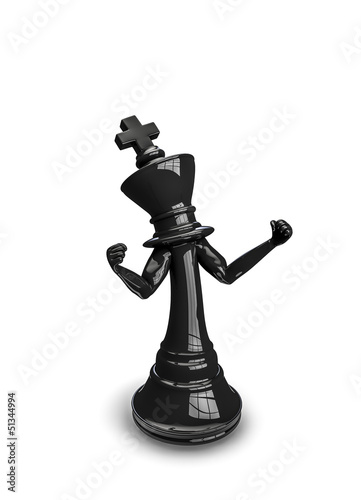 Angry chess king