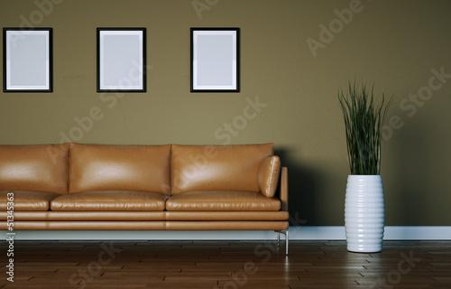 braunes Ledersofa modernes Design