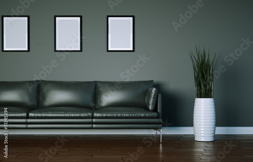 graues Ledersofa modernes Design
