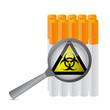warning sign and cigarette illustration