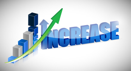 Increase business chart and word