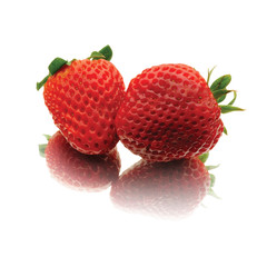 Two strawberrys