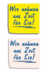 Post-it Zettel - Zeit nehmen