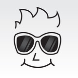 Man's face outline wearing sunglasses