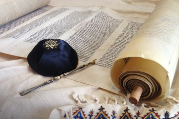 Torah scroll with Kippah