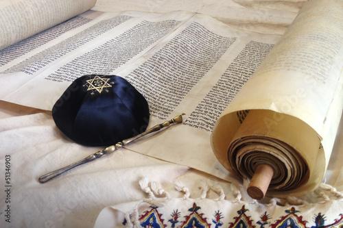 Torah scroll with Kippah - 51346903