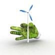 3D eco energy metaphor.
