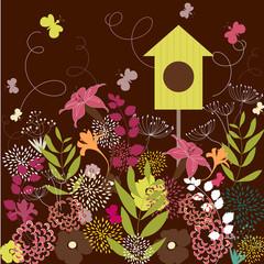 Springtime in garden