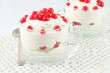 Yogurt with berries red currant