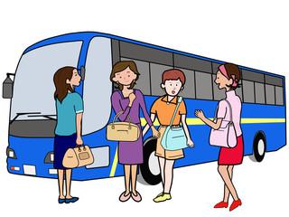 女子会でバス旅行