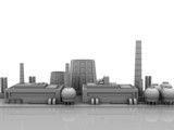 industrial buildings background