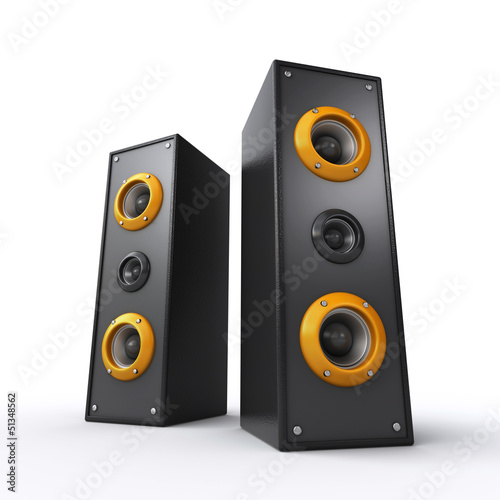 powerful black speakers