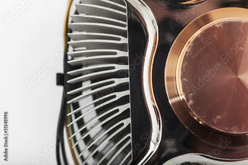 Computer cpu cooler close up