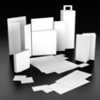 3d render of Set of corporate identity templates