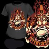 T-Shirt Print Sexy Hot Rod Girl
