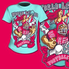 T-Shirt Print American Football