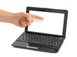 Notebook computer and pointing hand