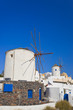 Windmill in Oia at Santorini, Greece