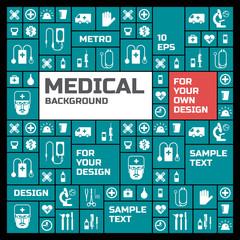 Medical background. Metro style