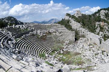 Ancient amphitheatre in Termessos city. (nowadays Turkey)