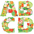 Alphabet of vegetables ABCD
