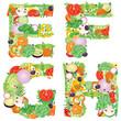 Alphabet of vegetables EFGH