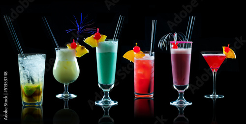 canvas print picture Cocktail Kollage 1