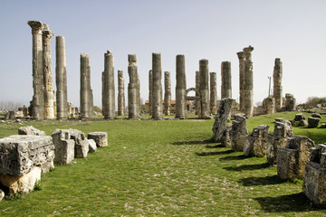 Temple of Zeus, in Uzuncaburc  Olba , Mersin - Turkey